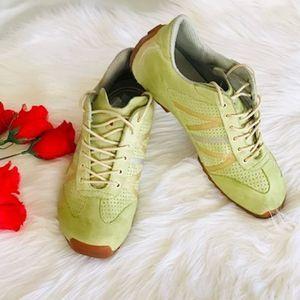 Tsubo Tesla Citrus Green Leather Sneakers / 7